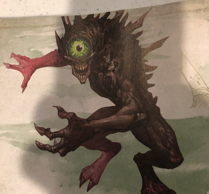 The nothic art from the Monster Manual