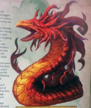 the Fire Snake from the Monster Manual