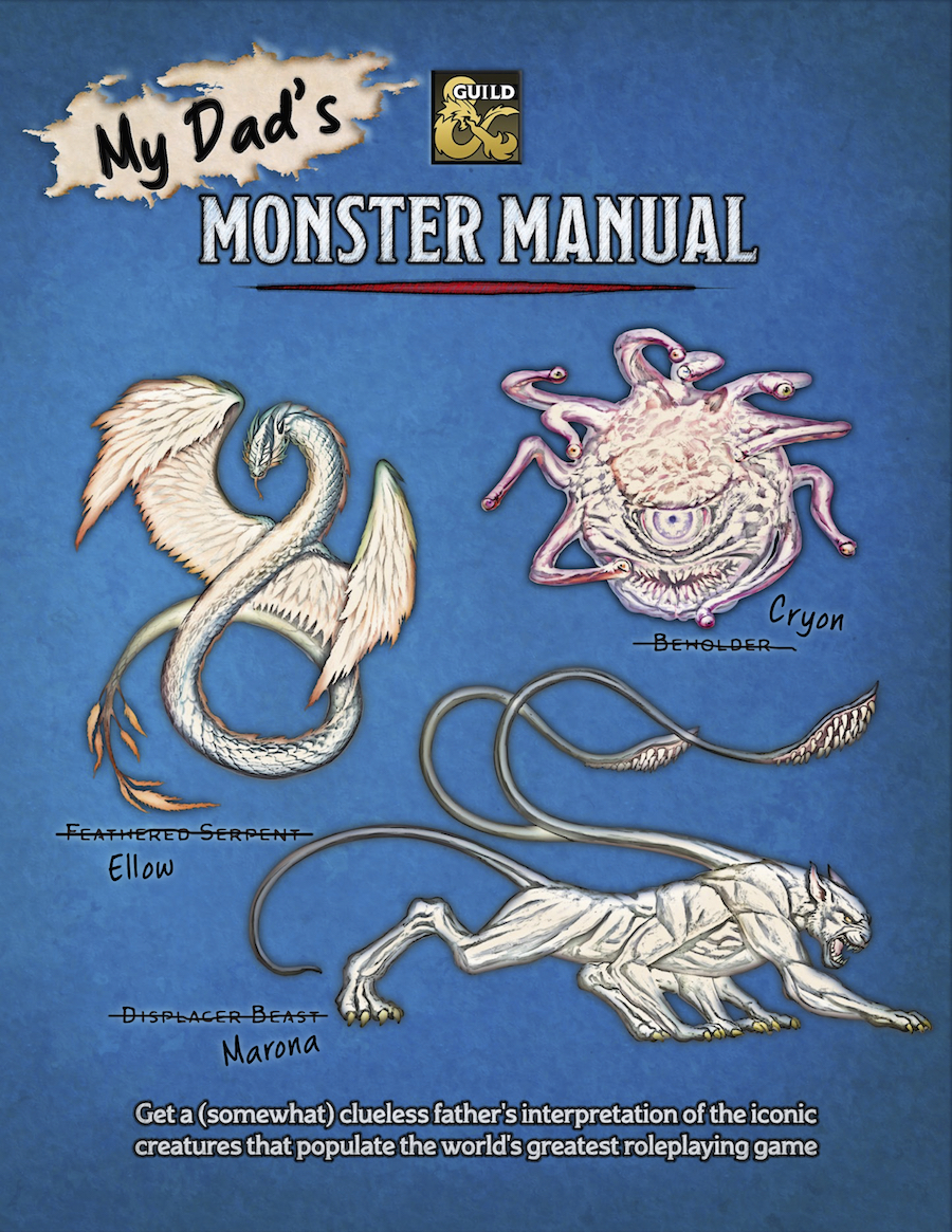 The cover image for My Dad's Monster Manual